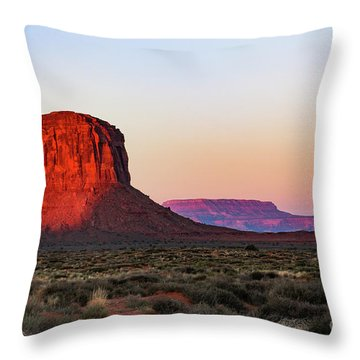 Morning Glory In Monument Valley Throw Pillow