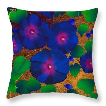 Throw Pillow featuring the digital art Morning Glory by Latha Gokuldas Panicker