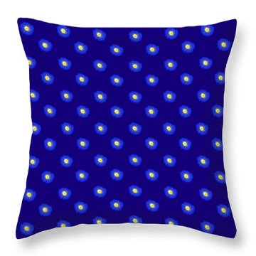 Morning Glory Pattern Throw Pillow