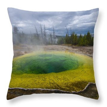 Throw Pillow featuring the photograph Morning Glory Pool by Gary Lengyel
