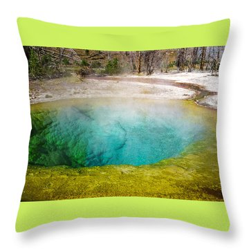 Morning Glory Pool Yellowstone National Park Throw Pillow