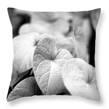 Morning Glory Vines Throw Pillow