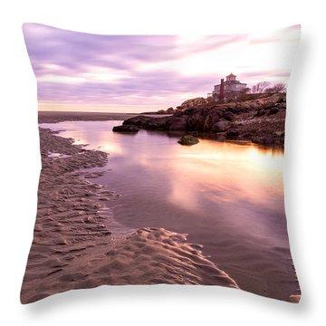 Morning Glow Good Harbor Throw Pillow
