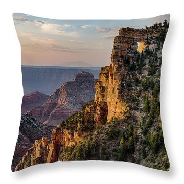 Morning Glow On Angels Window Throw Pillow