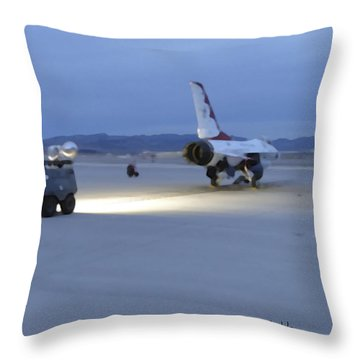 Morning Go Throw Pillow by Walter Chamberlain