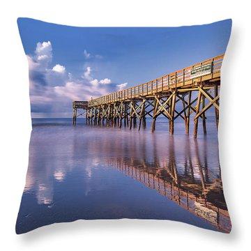 Morning Gold - Isle Of Palms, Sc Throw Pillow
