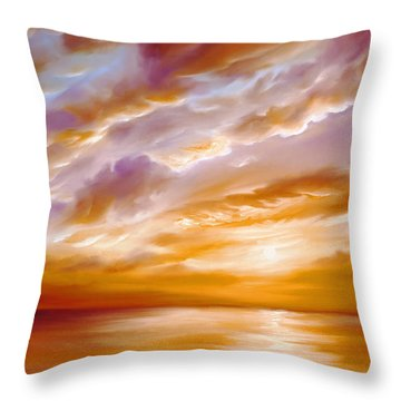 Morning Grace Throw Pillow