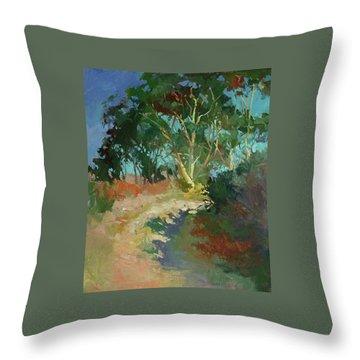 Morning Has Broken  -  Plein Air Catalina Island Throw Pillow