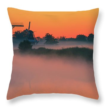 Throw Pillows Magnolia : Morning Has Broken Photograph by Henk Meijer Photography