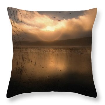 Morning Has Broken Throw Pillow by Rose-Marie Karlsen
