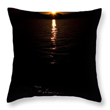 Throw Pillow featuring the photograph Morning Has Broken by Tamyra Ayles
