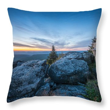 Monongahela National Forest Wilderness Morning Light Throw Pillow