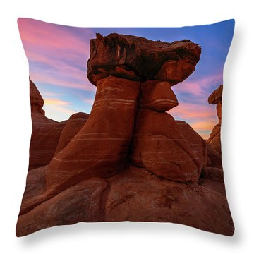 Morning Hoodoo Throw Pillow