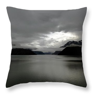 Morning In Alaska Throw Pillow