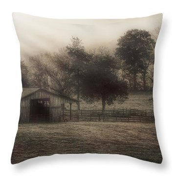 Morning In Boxley Valley Throw Pillow