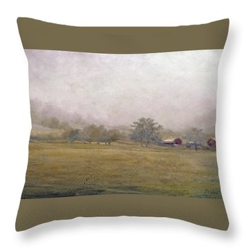 Morning In Georgia Throw Pillow by Andrew King