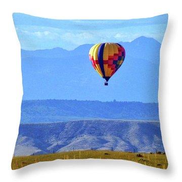 Morning In Montana Throw Pillow