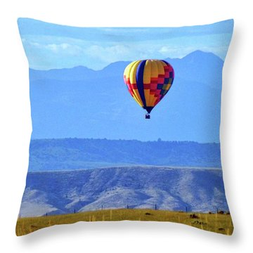 Morning In Montana Throw Pillow