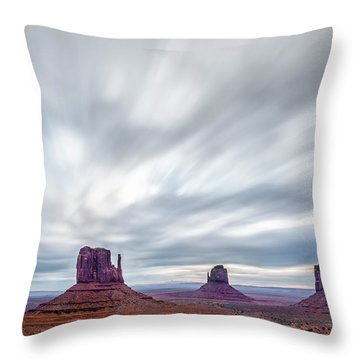 Throw Pillow featuring the photograph Morning In Monument Valley by Jon Glaser