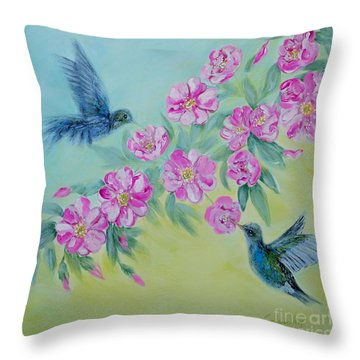 Morning In My Garden. Special Collection For Your Home Throw Pillow by Oksana Semenchenko