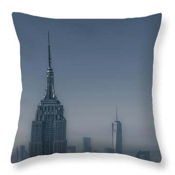 Morning In New York Throw Pillow by Chris Fletcher