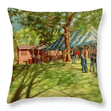 Morning In Ringgold Throw Pillow by Janet McGrath