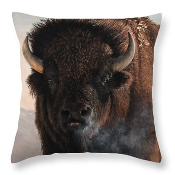 Morning In The Foothills  Throw Pillow
