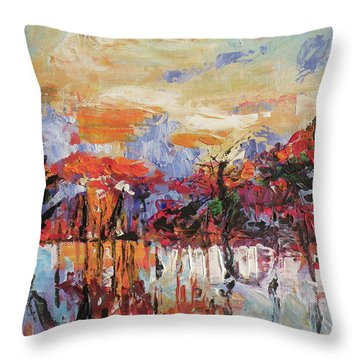 Morning In The Garden Throw Pillow