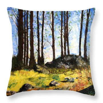 Morning In The High Uintahs Throw Pillow by Jane Autry
