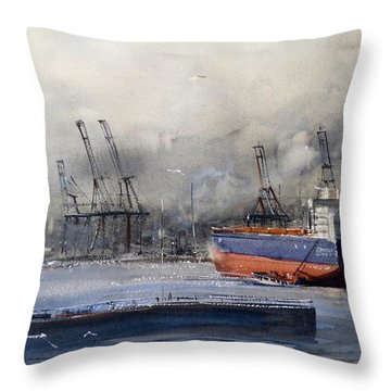 Morning In Vancouver Throw Pillow