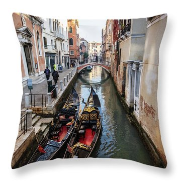 Morning In Venice In Winter Throw Pillow