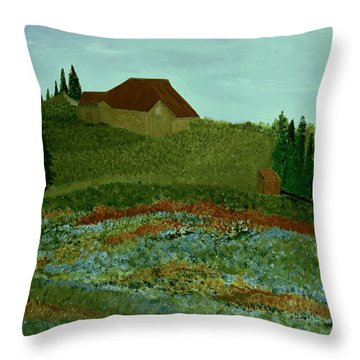 Morning In Vevey Throw Pillow