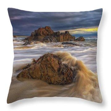 Morning Light At Marginal Way Throw Pillow