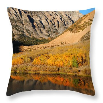 Morning Light At North Lake In The Eastern Sierras Throw Pillow by Jetson Nguyen