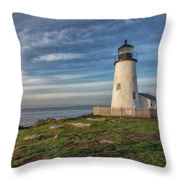 Morning Light At Pemaquid Point Throw Pillow