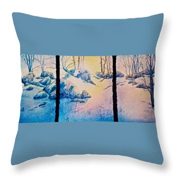 Throw Pillow featuring the painting Morning Light by Carolyn Rosenberger