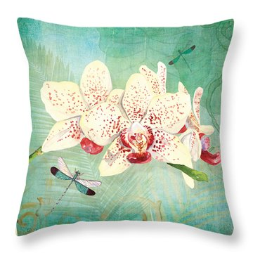 Morning Light - Dancing Dragonflies Throw Pillow