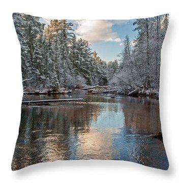 Morning Light On Grand Marais Creek Throw Pillow