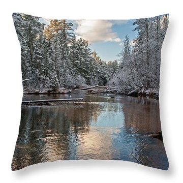 Morning Light On Grand Marais Creek Throw Pillow