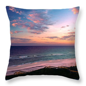 Morning Light On Rosemary Beach Throw Pillow