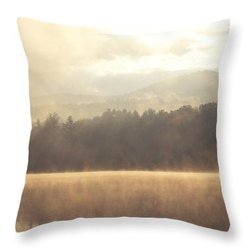 Morning Light Over The Mountains Throw Pillow by Stephanie McDowell