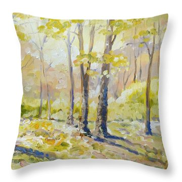 Morning Light - Spring Throw Pillow