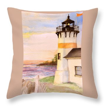 Morning, Lighthouse Throw Pillow