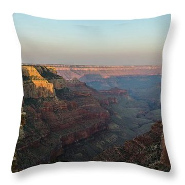 Morning Lights Wotans Throne Throw Pillow