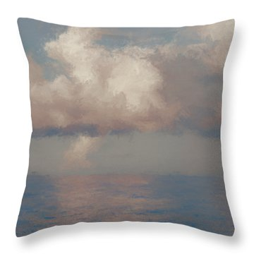 Throw Pillow featuring the painting Morning Lights by Rosario Piazza