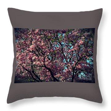 Morning Lit Magnolia Throw Pillow