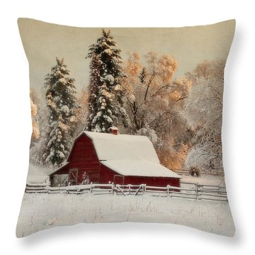 Morning Magic II Throw Pillow by Beve Brown-Clark Photography