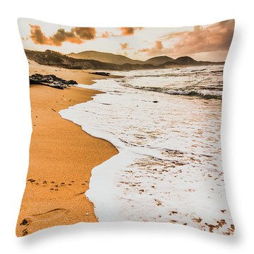 Morning Marine Wash Throw Pillow