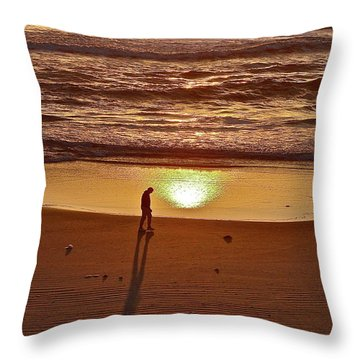 Morning Meditation Throw Pillow