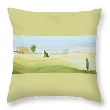 Morning Mist Throw Pillow by Bonnie Rabert